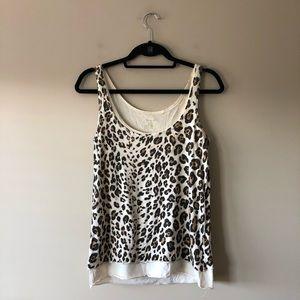 J. Crew leopard print sleeveless top